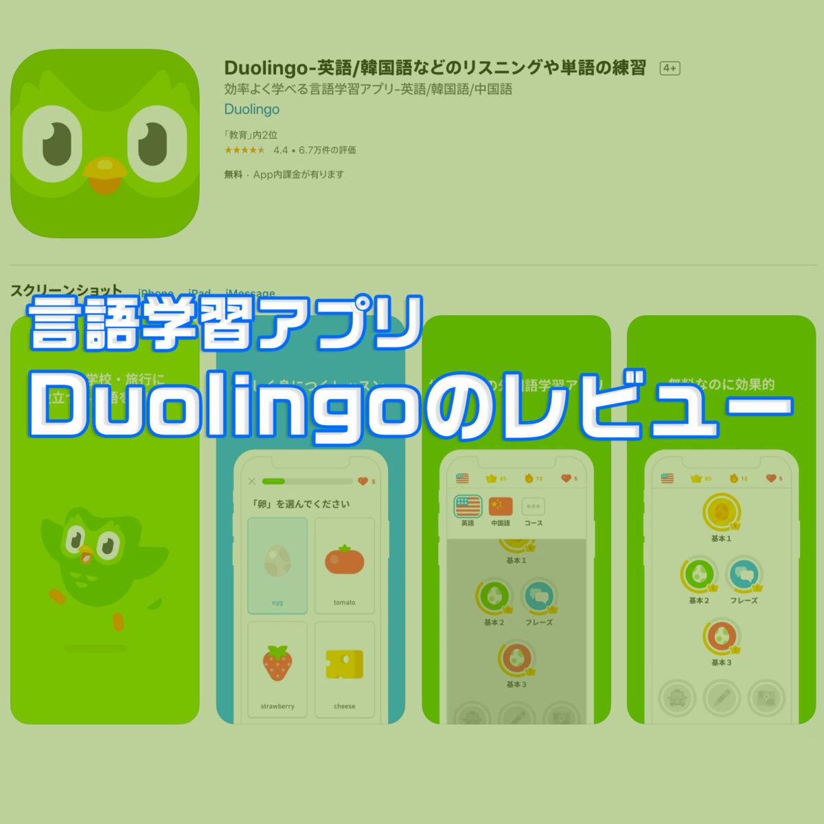 アプリで言語学習・Duolingo